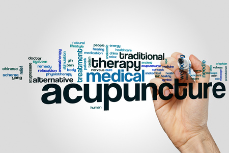 Acupuncture word cloud concept