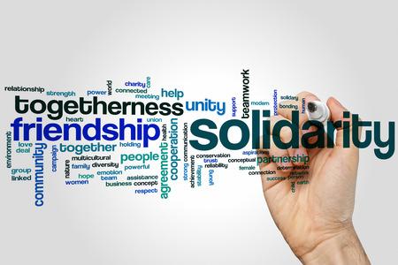 solidaridad: Solidaridad concepto de nube de palabras
