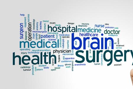 surgery concept: Brain surgery concept word cloud background Stock Photo