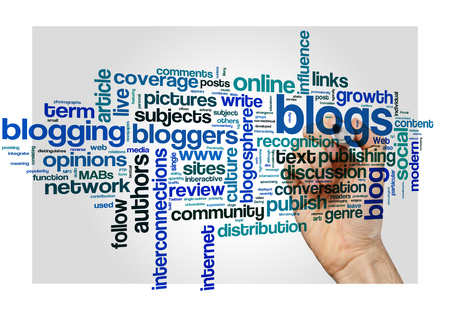 blogosphere: Blog and blogging concept word cloud background
