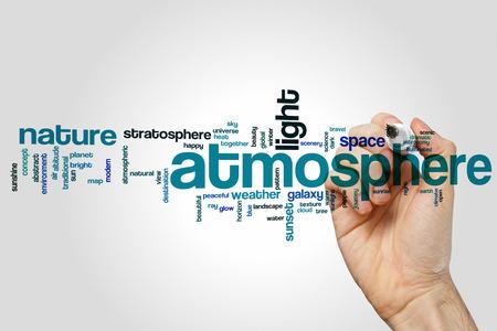 atmosfera: Atmósfera nube de palabras Foto de archivo