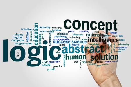 lógica: Lógica concepto de nube de palabras de fondo
