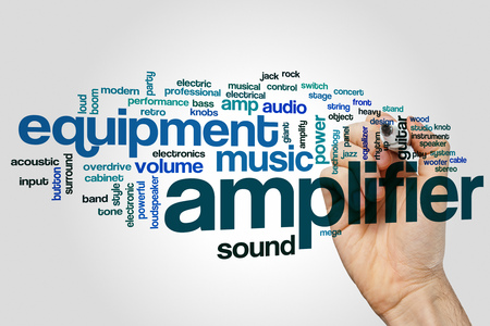 amplifier: Amplifier word cloud concept