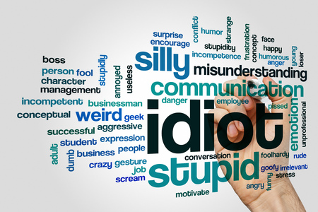 stupidity: Idiot word cloud