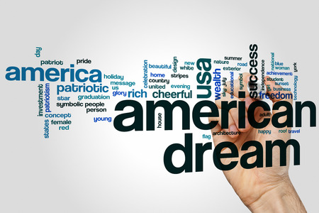american dream: American dream word cloud concept with patriotic independence related tags
