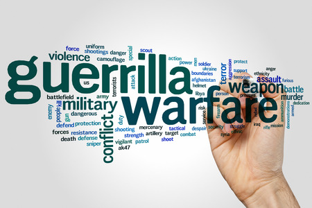 guerrilla: Guerrilla warfareconcept word cloud background