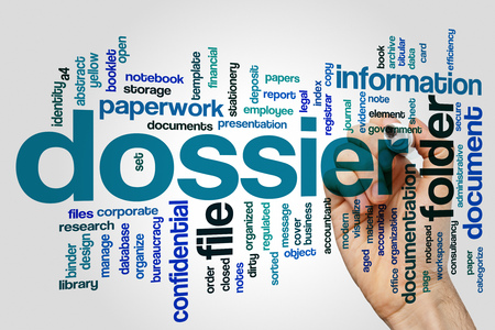 dossier: Dossier concept word cloud background