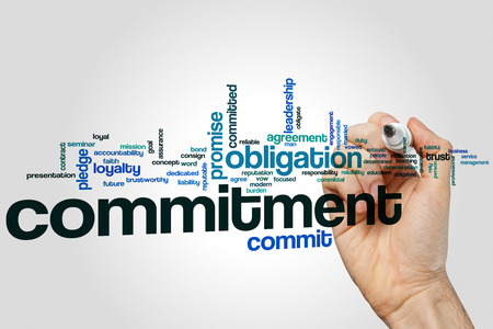 obligate: Commitment word cloud concept