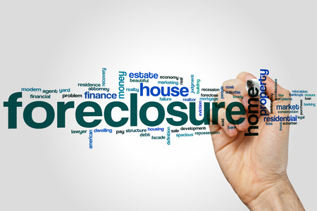front yard: Foreclosure word cloud concept