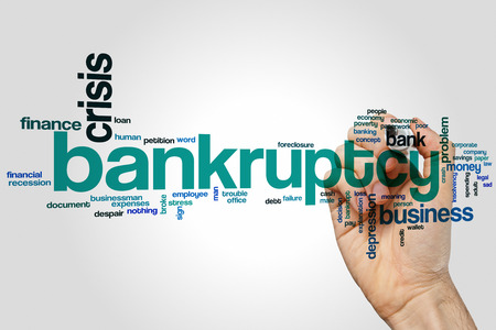 bankruptcy: Bankruptcy word cloud concept Stock Photo