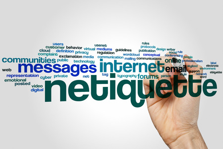 Netiquette concept word cloud background Stock Photo