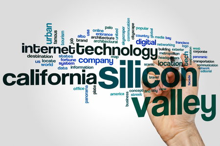 silicon: Silicon valley word cloud concept