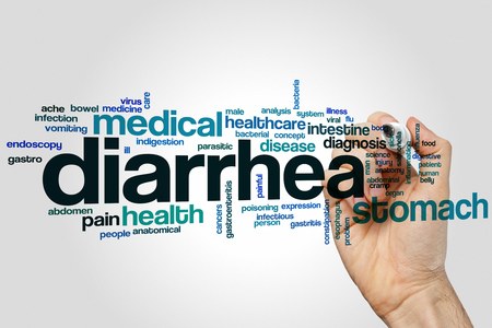 diarrea: Diarrea concepto de nube de palabras
