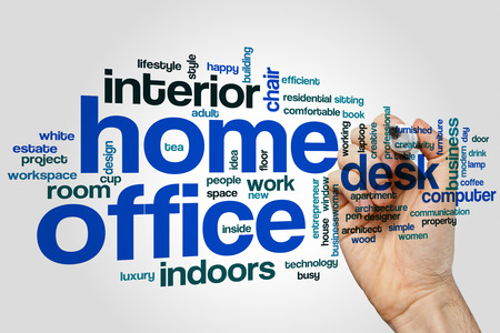 home office: Home office word cloud concept