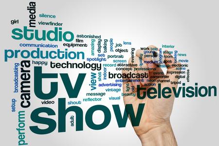 tv show: TV show word cloud concept