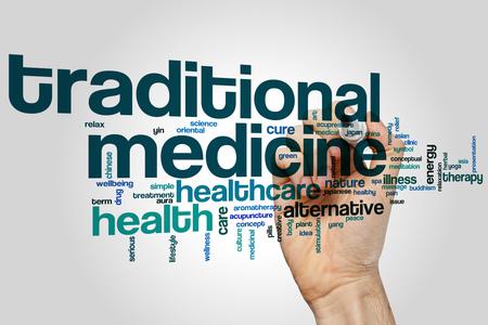 traditional medicine: Traditional medicine word cloud concept