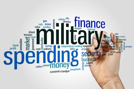 Military spending concept word cloud background Reklamní fotografie