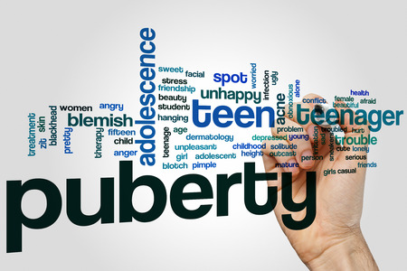 puberty: Puberty word cloud concept