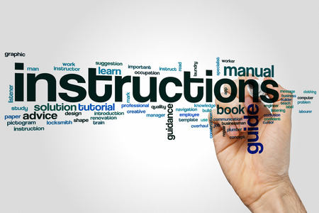 Word cloud concept instructies