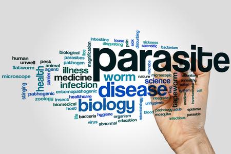 parasite: Parasite word cloud concept