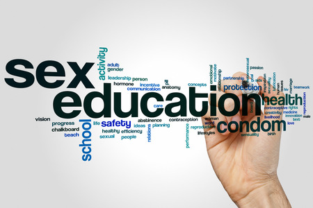 sex education: Sex education word cloud concept
