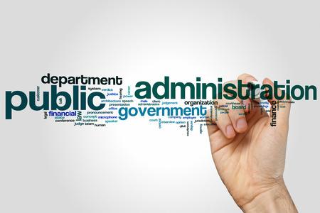Public administration word cloud concept