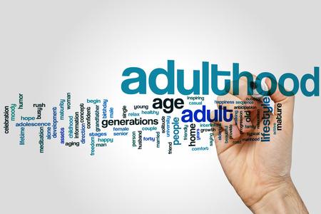adulthood: Adulthood word cloud concept