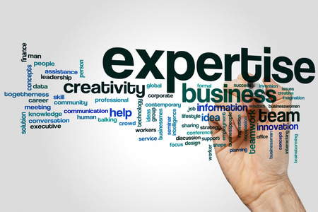 expertise: Expertise word cloud concept Stock Photo