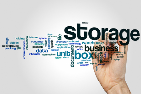 storage: Storage word cloud concept Stock Photo