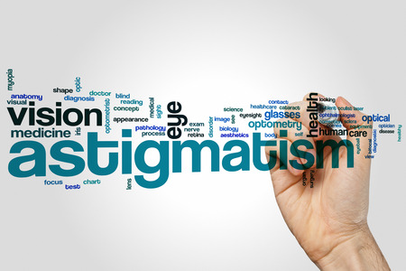 astigmatism: Astigmatism word cloud concept Stock Photo