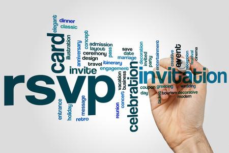 rsvp: RSVP concept word cloud background