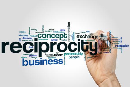 reciprocity: Reciprocity word cloud concept