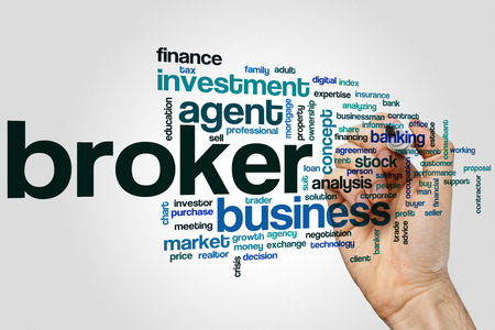 corredor de bolsa: Broker concepto de nube de palabras