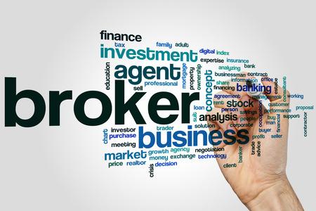 rent index: Broker word cloud concept