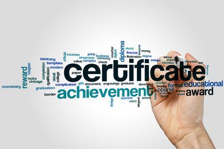 stock certificate: Certificate word cloud concept
