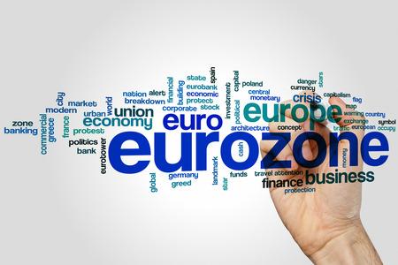 eurozone: Eurozone word cloud concept