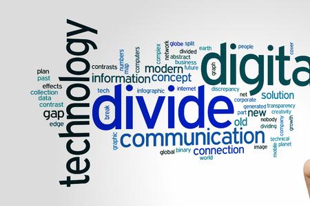 Digital divide concept word cloud background
