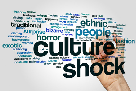 culture: Culture shock concept word cloud background Stock Photo