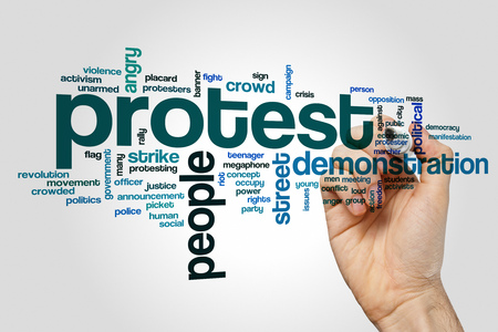 occupy movement: Protest word cloud Stock Photo