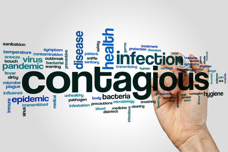 contagious: Contagious concept word cloud background