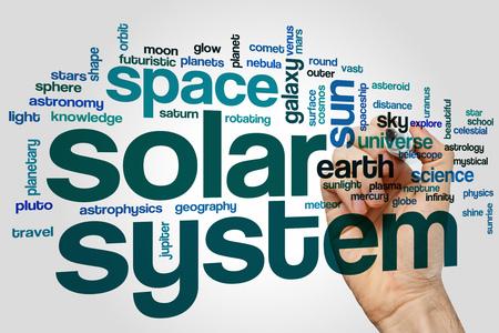 astrophysics: Solar system word cloud concept