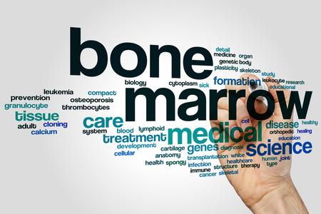 Bone marrow word cloud concept