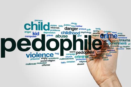 maltreatment: Pedophile word cloud concept