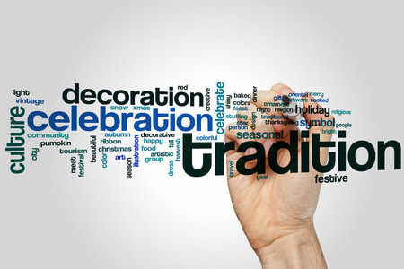 Tradition word cloud concept Stock Photo