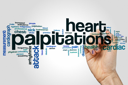 palpitations: Heart palpitations word cloud concept