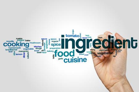 ingredient: Ingredient word cloud Stock Photo
