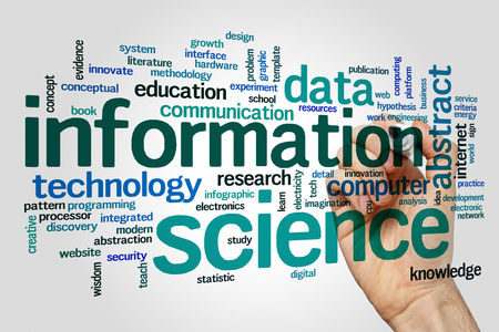information science: Information science concept word cloud background