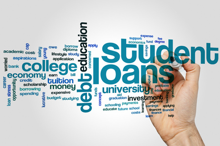 loans: Student loans concept word cloud background