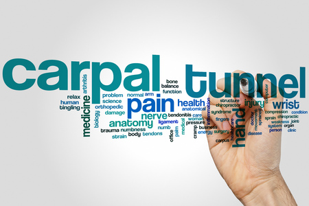 carpal tunnel: Carpal tunnel word cloud concept