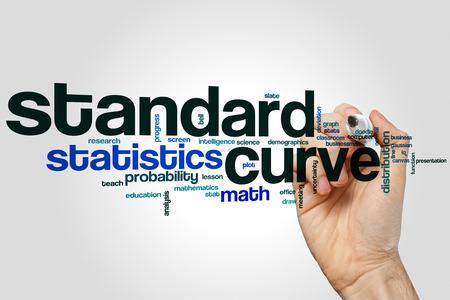 curve: Standard curve word cloud concept
